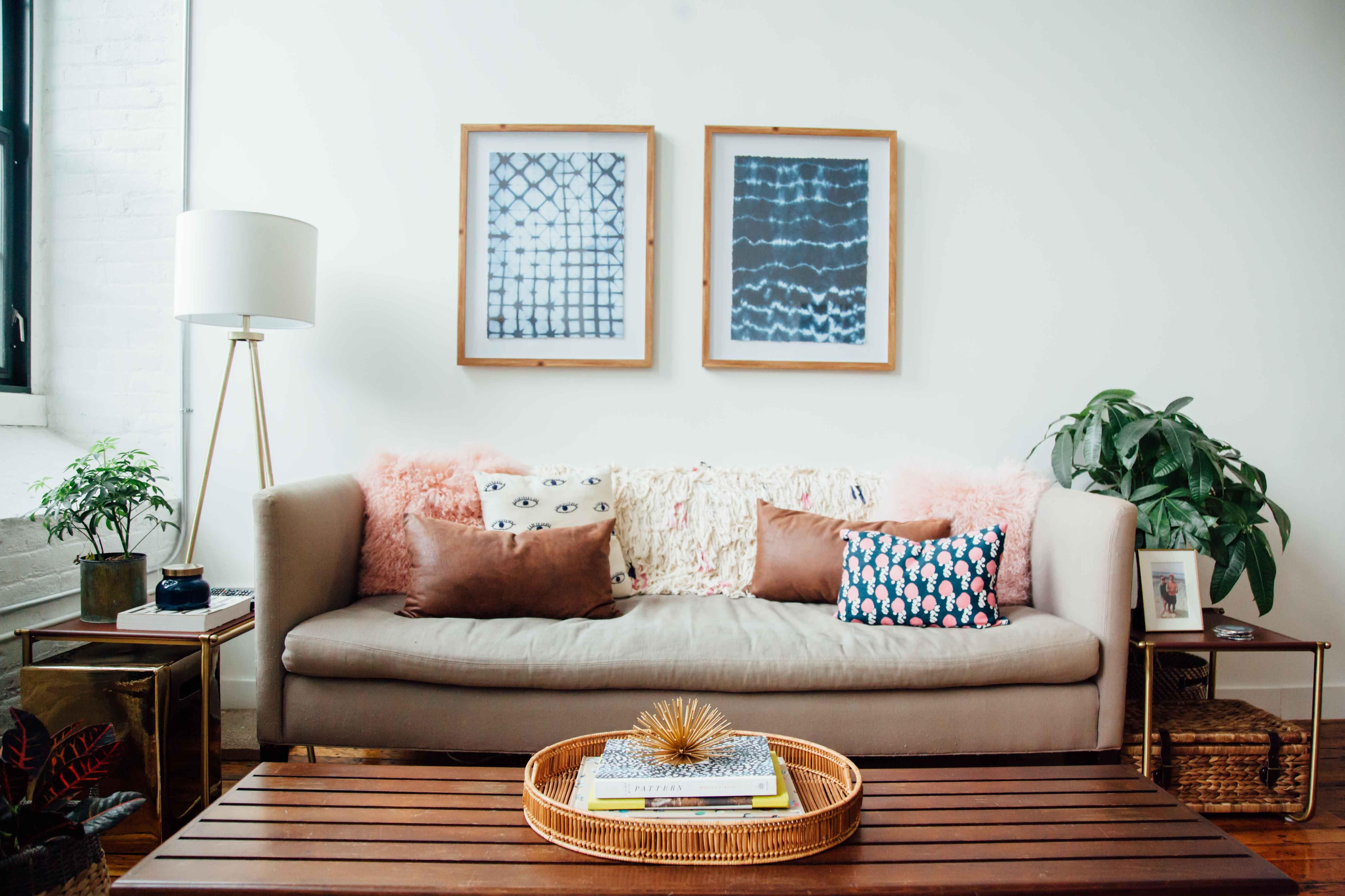 House Tour: Beautiful Bohemian Style Providence Rental   Living ...