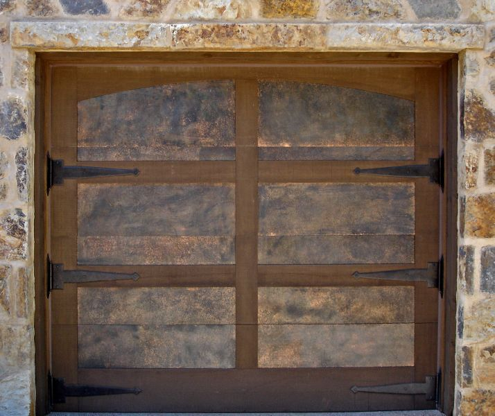 The Grand Timber Gallery Of Doors Copper Inlaid Timber Door Unique Garage Doors Custom Garage Doors Garage Door Installation