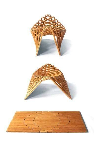 Natural wood geometric nature inspired inventive for Mobilia vaughan