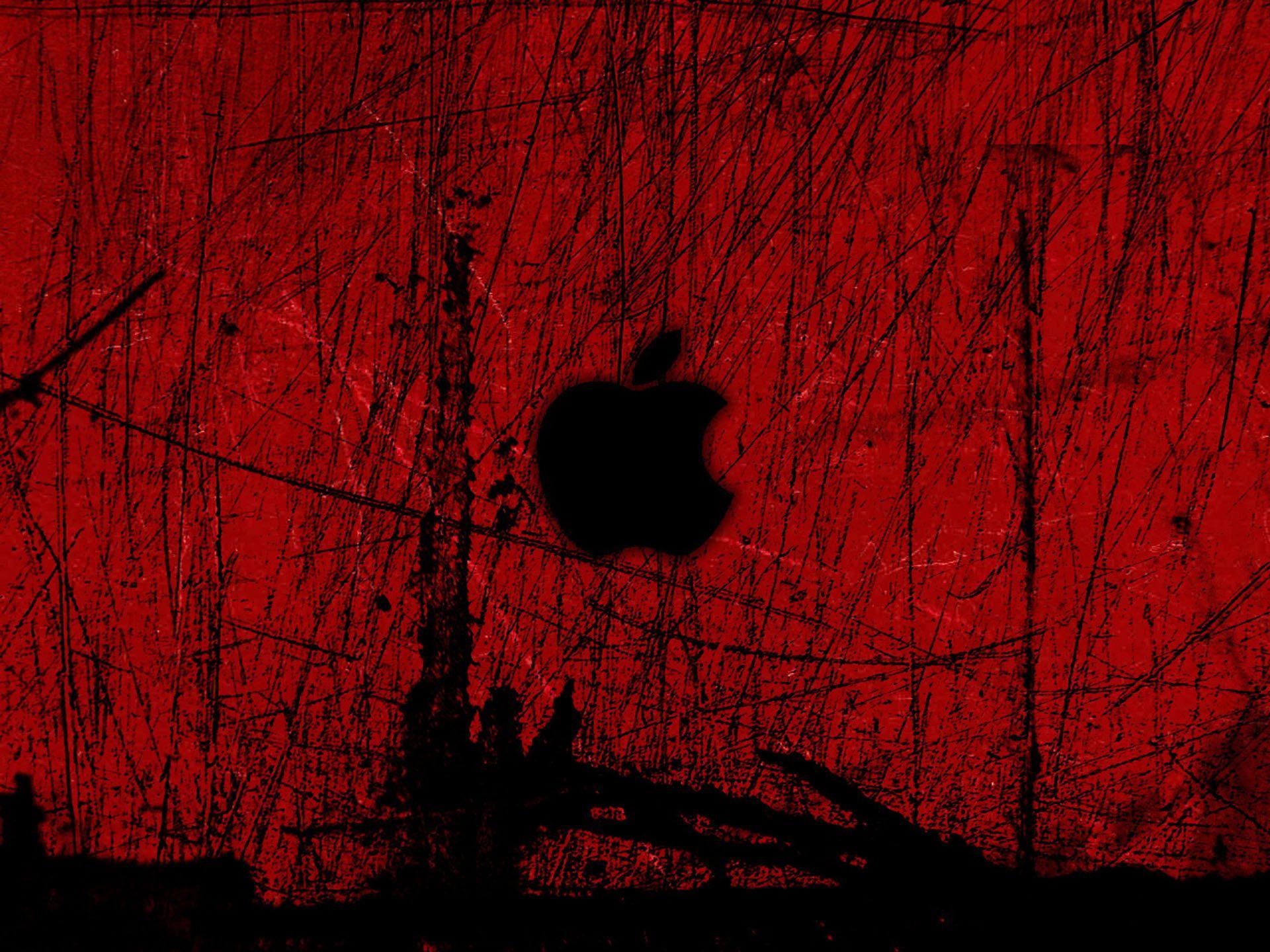 сделано красно черные обои на айфон них был