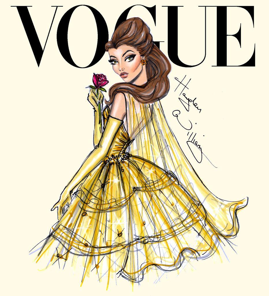 Disney Divas for Vogue by Hayden Williams: Belle