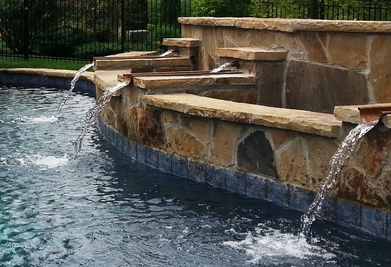 Blue Haven Pools Kc Stenstrom Water Feature Copper