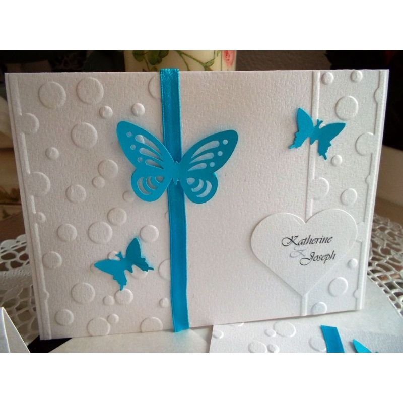 Contemporary Blue Butterfly Wedding Invitations Inspiration ...