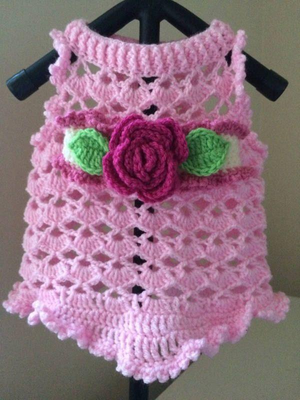 Crochet vestido dulce perro   decoración perritos   Pinterest ...