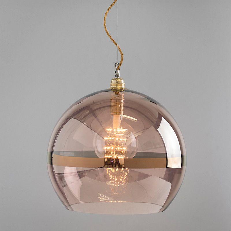 Copper Kitchen Lighting: Ebb & Flow Striped Rowan Pendant, Copper