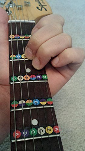 Guitar Fretboard Note Stickers Trainer Strips Learning Instrument ...