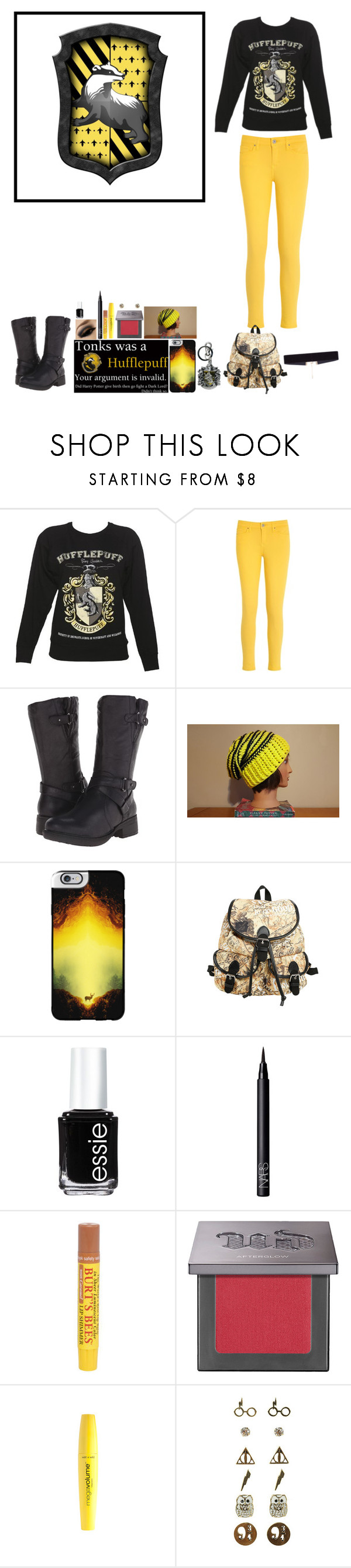 """""""Hufflepuff Pride"""" by katykitty5397 ❤ liked on Polyvore featuring Tommy Hilfiger, BareTraps, Casetify, Essie, NARS Cosmetics, Burt's Bees, Urban Decay, Wet n Wild, 8 Other Reasons and harrypotter"""