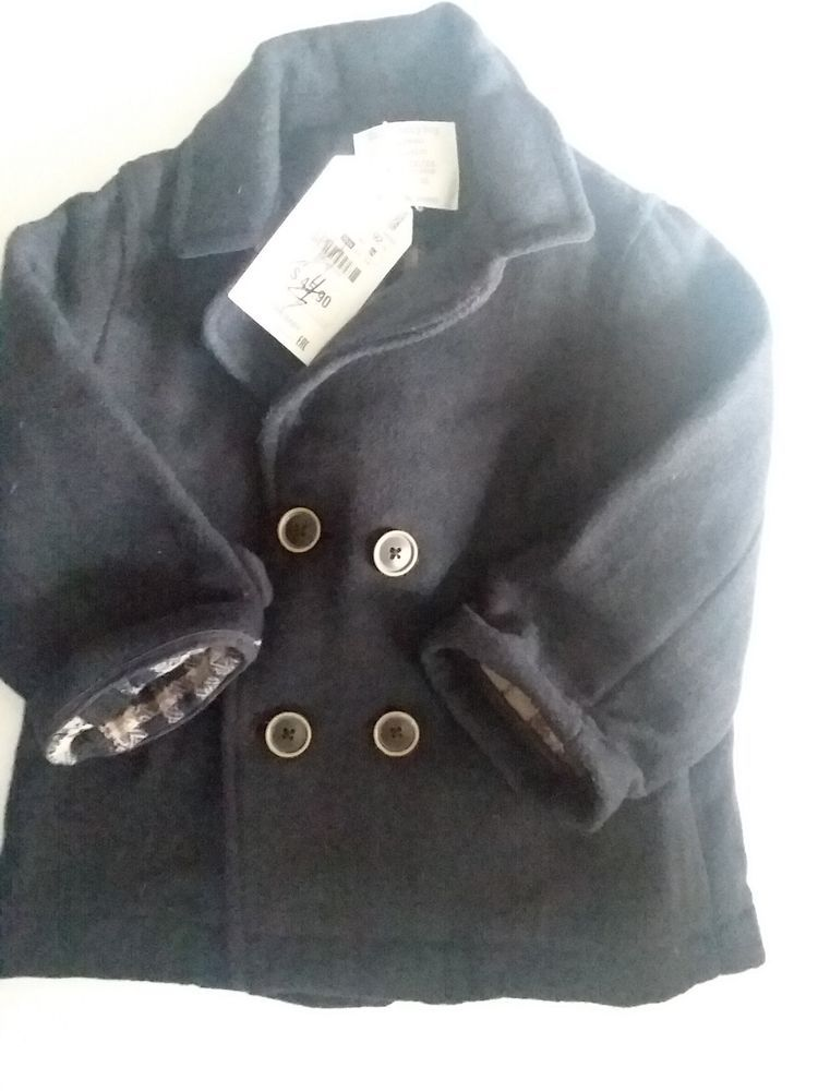 562a0a0e1ce8 Zara Baby Boy Coat Size 18 24 Months NEW WITH TAGS Navy Blue ...