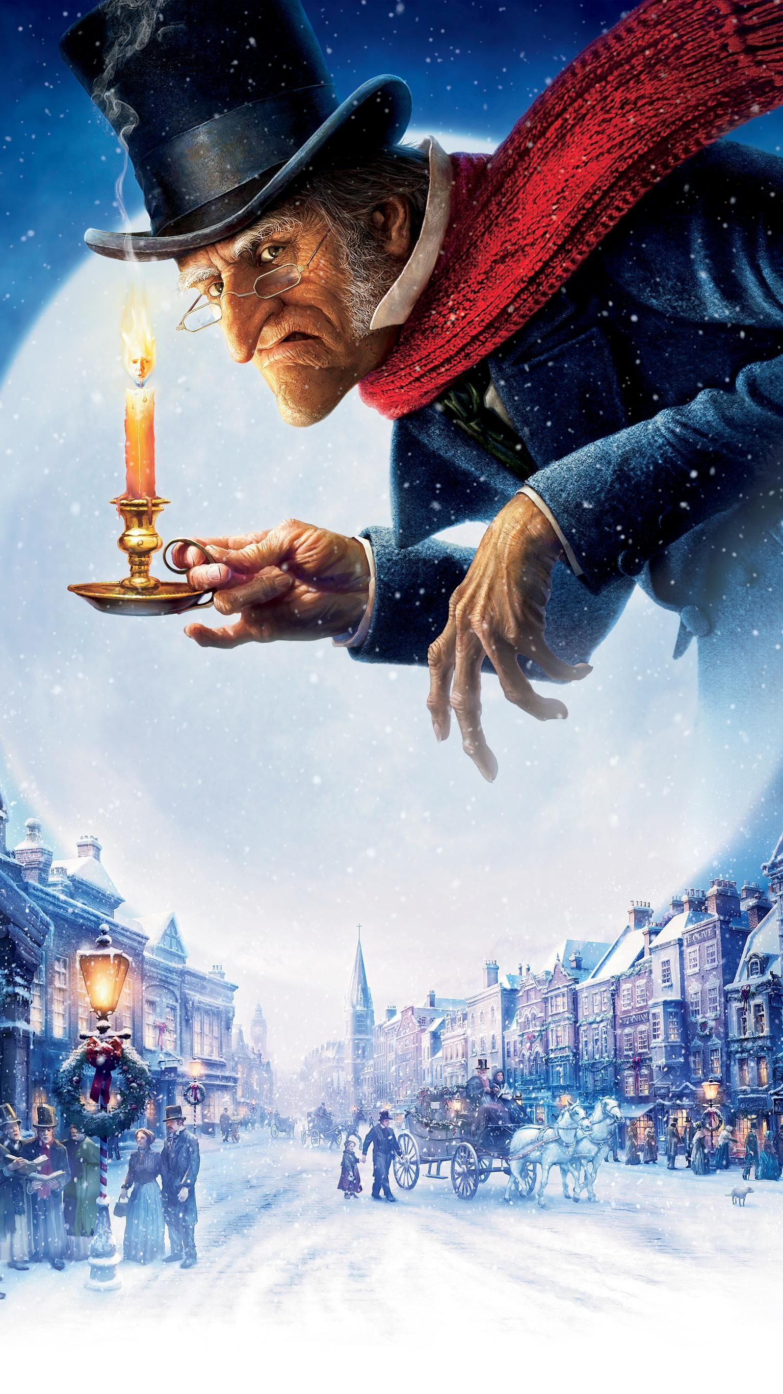 A Christmas Carol (2009) Phone Wallpaper (With images