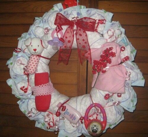 Puppy diaper wreath