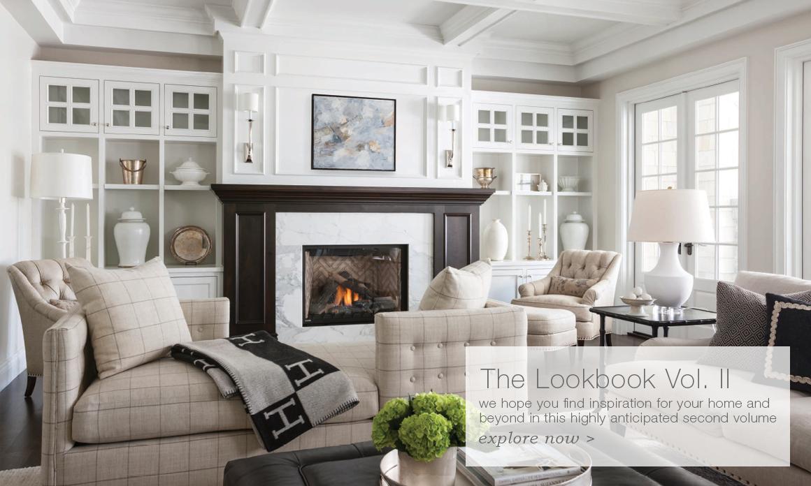 Signature Designer Lighting Circa Lighting Fireplace Built Ins Long Living Room Home Decor