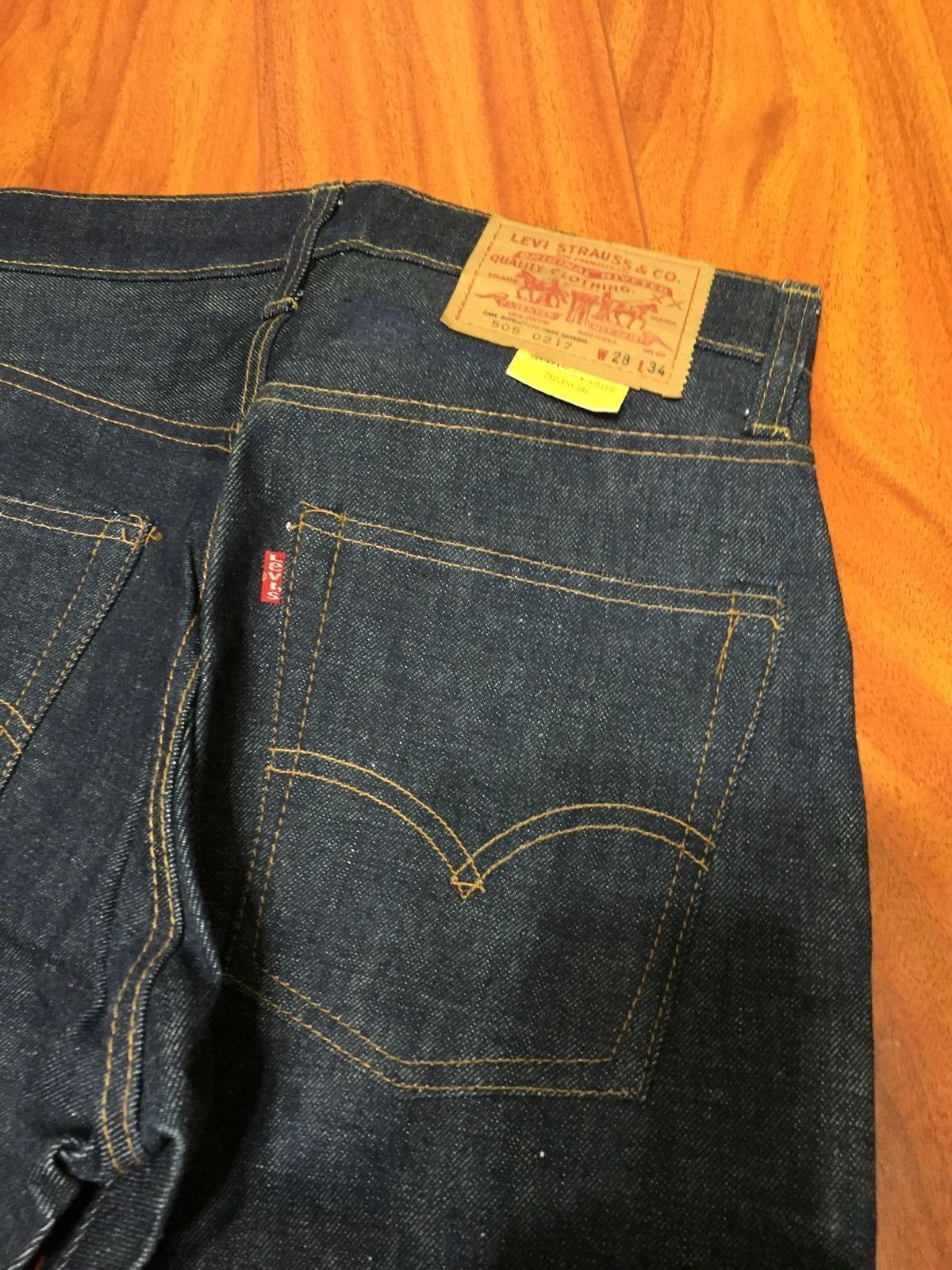 58d3e5b9566 Vintage Levi s 505 0217 Jeans Redline Single Stitch 28x34 Mode Homme