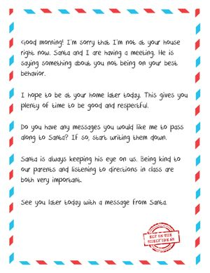 Letter From Elf To Naughty Kid  Free Printable When Your Child