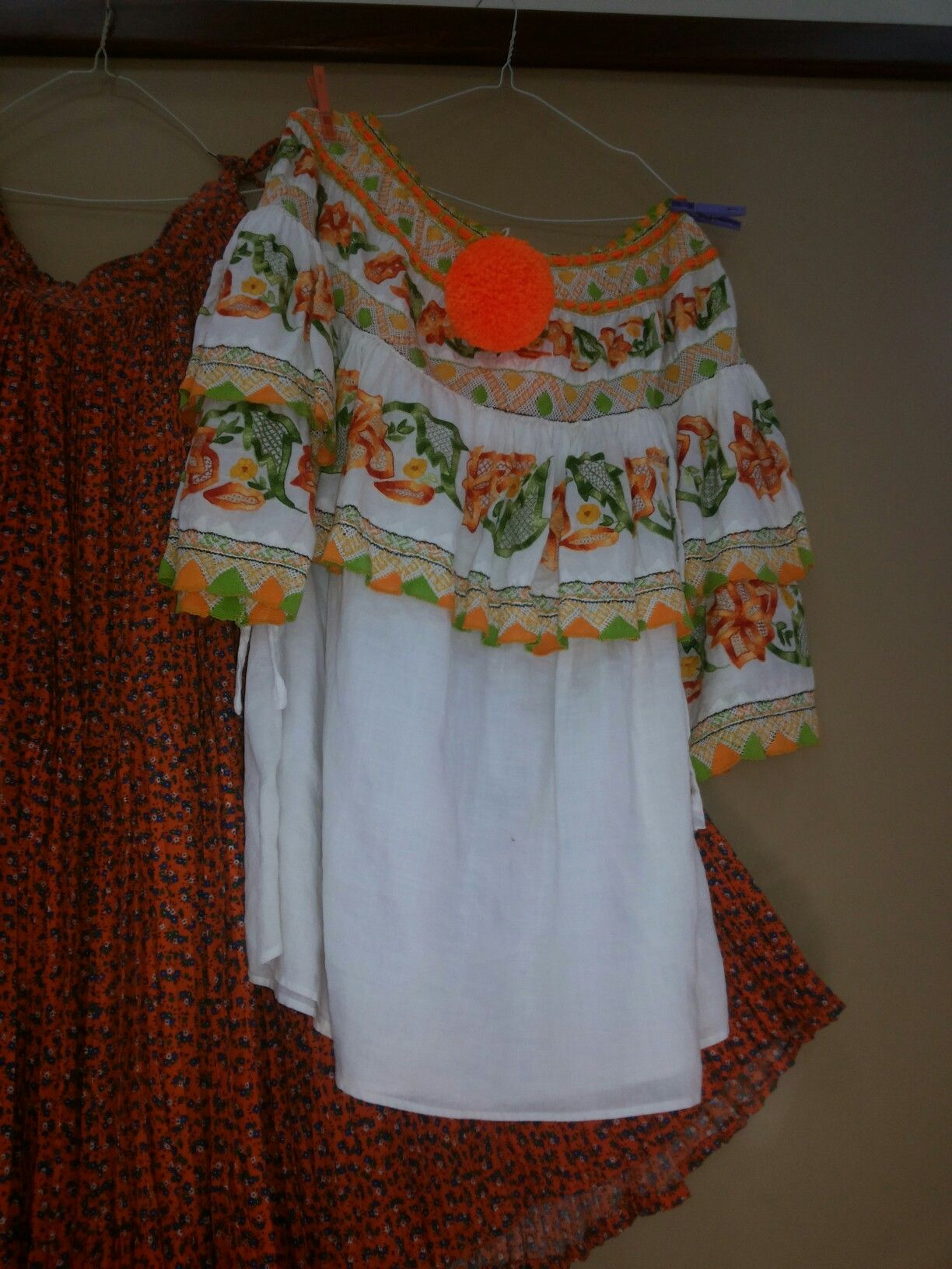 Ropa tipica panameña camisa