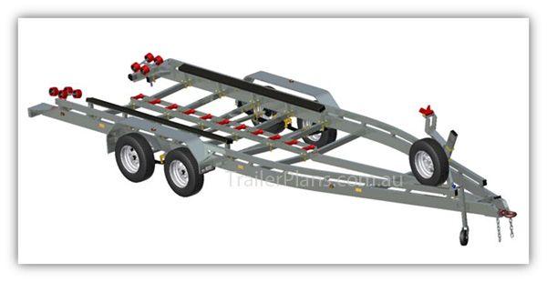 Boat Trailer PLANS - to suit 7m monohull sea boats. Build your own Boat Trailer  www.trailerplans.com.au