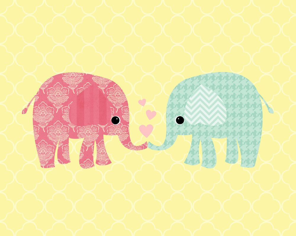 Elephant Love Printable 8x10 Landscape Print home decor, wall decor ...