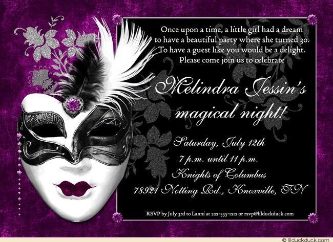Royal venetian mask 30th birthday invitation party mystery mood royal venetian mask 30th birthday invitation party mystery mood bookmarktalkfo Gallery