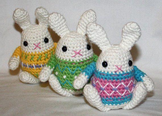Little Easter Bunny - crochet pattern - Amigurumi | Conejo pascua ...