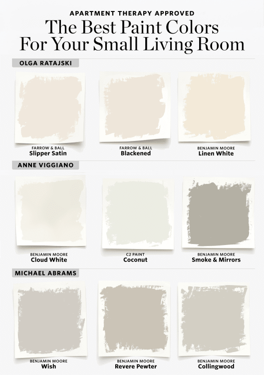9 Paint Colors to Try If You Have a Small Living Room images
