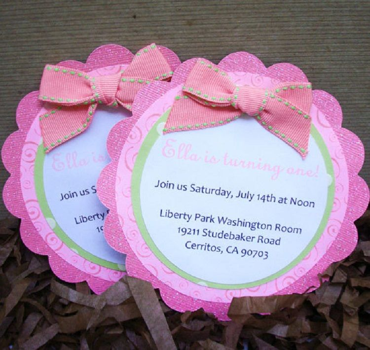 Pink Birthday Invitation Writing