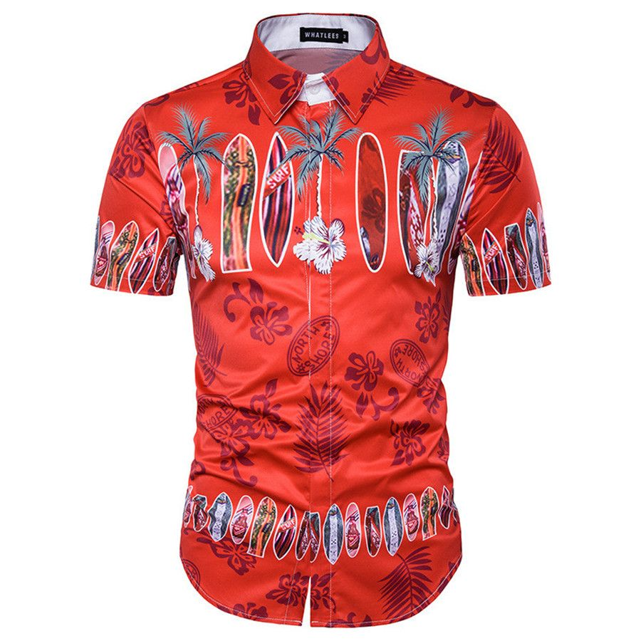 Click to Buy    New Arrival 3D Printed Men Dress Shirt Hawaii Beach ... 061da6c1402