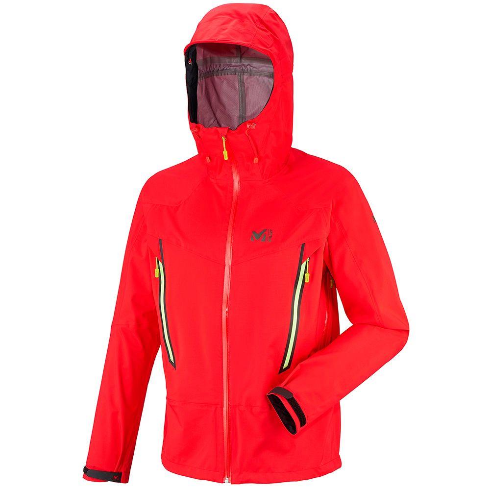 Millet Mens Les Drus Dry Edge 3l Jacket Red Red Jacket Jackets Athletic Jacket