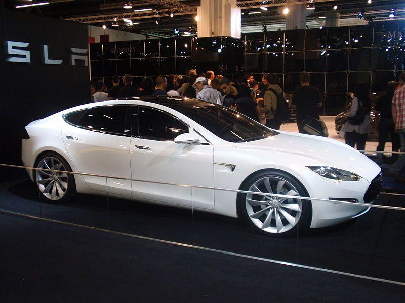 Tesla Model S Prototype 2009 Tesla Model S Tesla Model Tesla Model S White