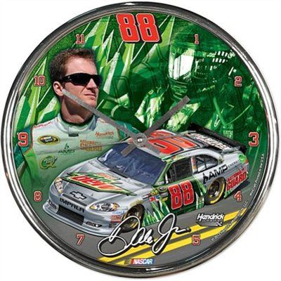 Wincraft Dale Earnhardt Jr Chrome Clock Nascar Dale