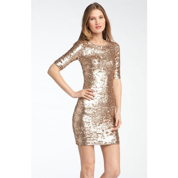 BCBGMAXAZRIA Sequin Dress found on Polyvore