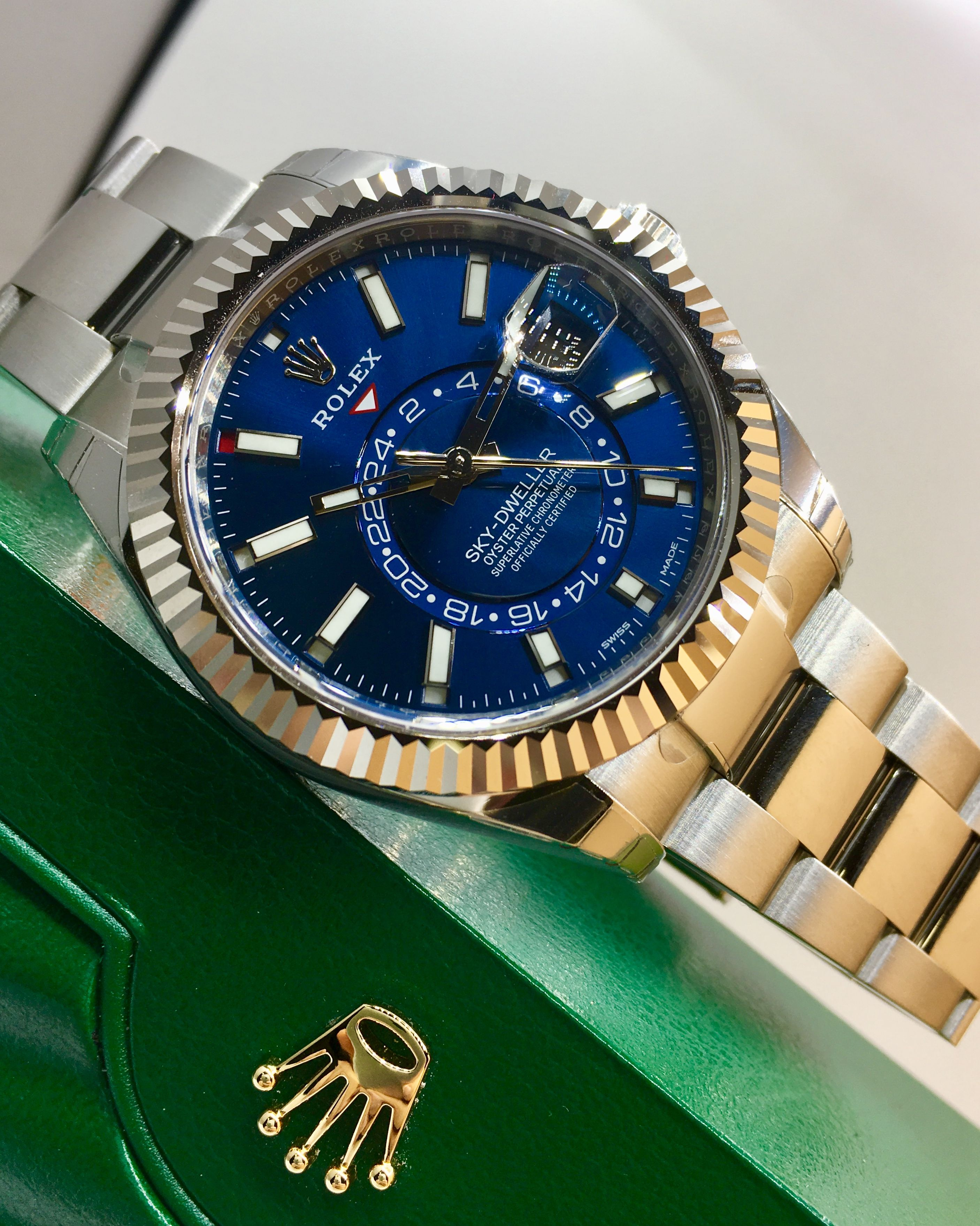 Rolex Sky Dweller Stainless Steel Blue Dial 326934 Watches For Men Swiss Army Watches Rolex