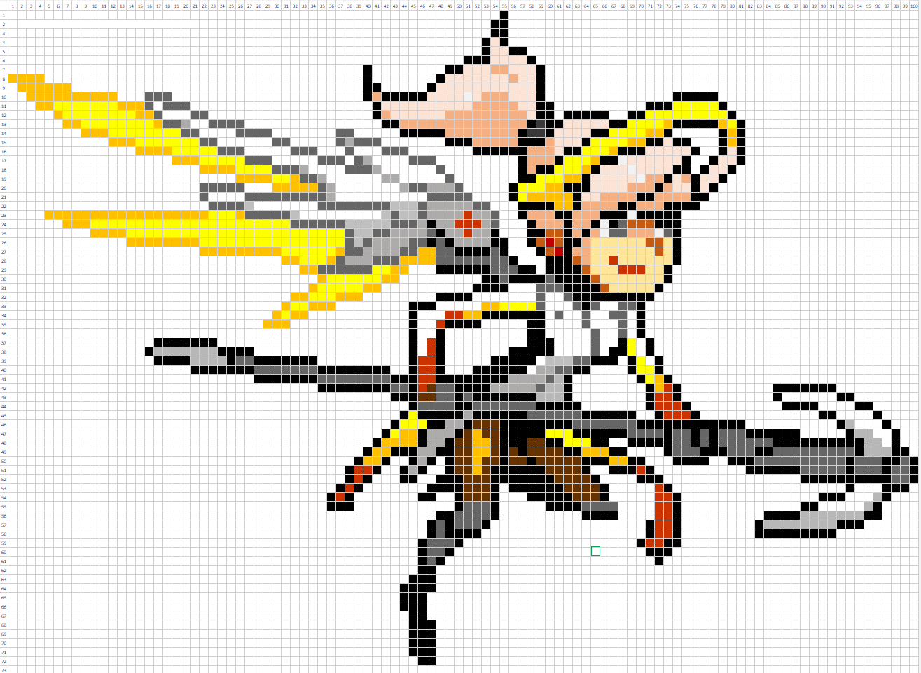 Overwatch Pixel Spray Pattern Mercy Pixel Art Grid Anime Pixel Art Cross Stitch Art