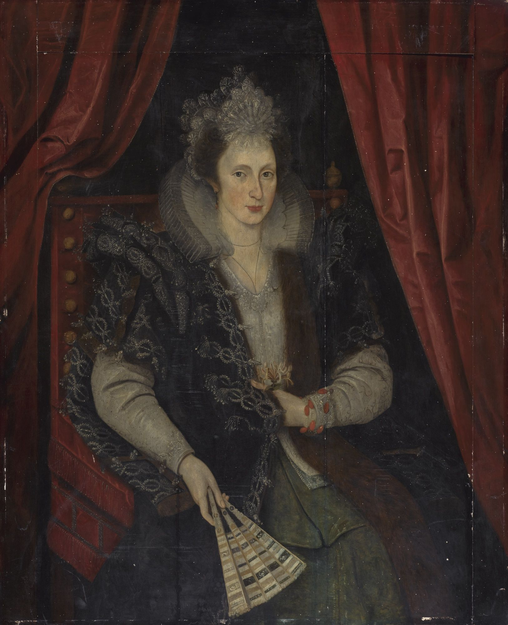 Auction Direct Sackville >> 1610, sold as Gheeraerts. Lady Mary Sackville. daughter of Thomas Sackville, 1st earl of Dorset ...