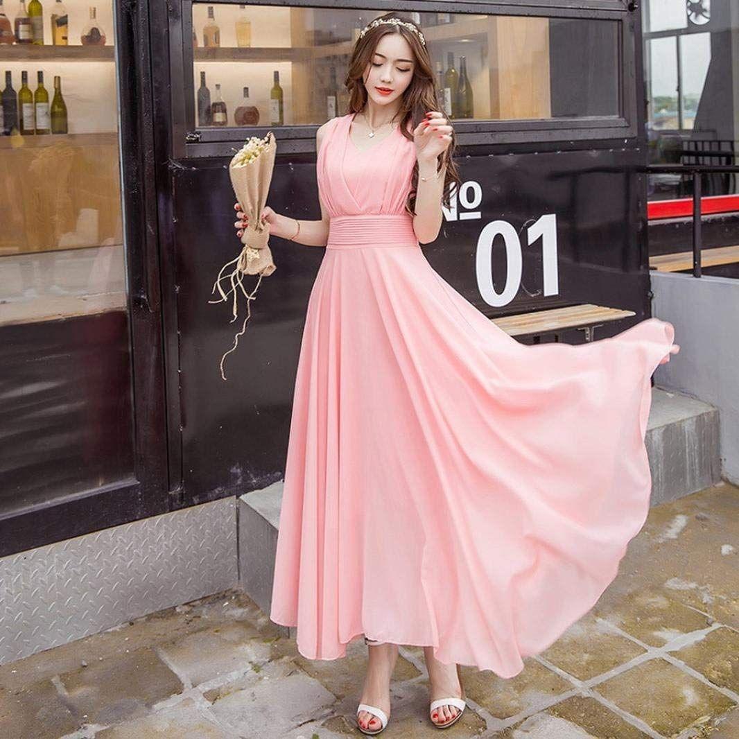 fff6ce0c29d6a Voberry@ Women's Clearance! Long Dress, s Chiffon Maxi Beach ...