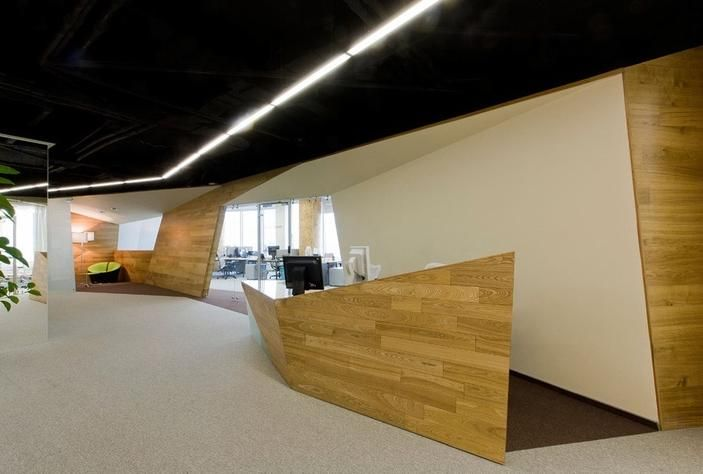 Office Reception in false ceiling design | OfficeZ | Pinterest ...
