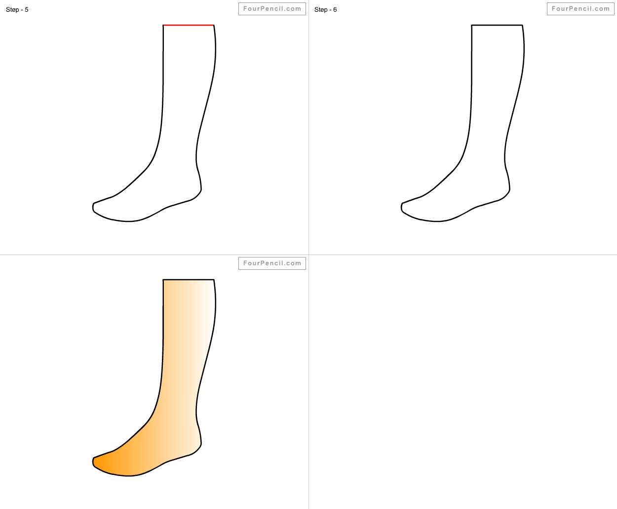 How To Draw Ankle For Kids Step By Step Drawing Tutorial, Draw Ankle For  Kids