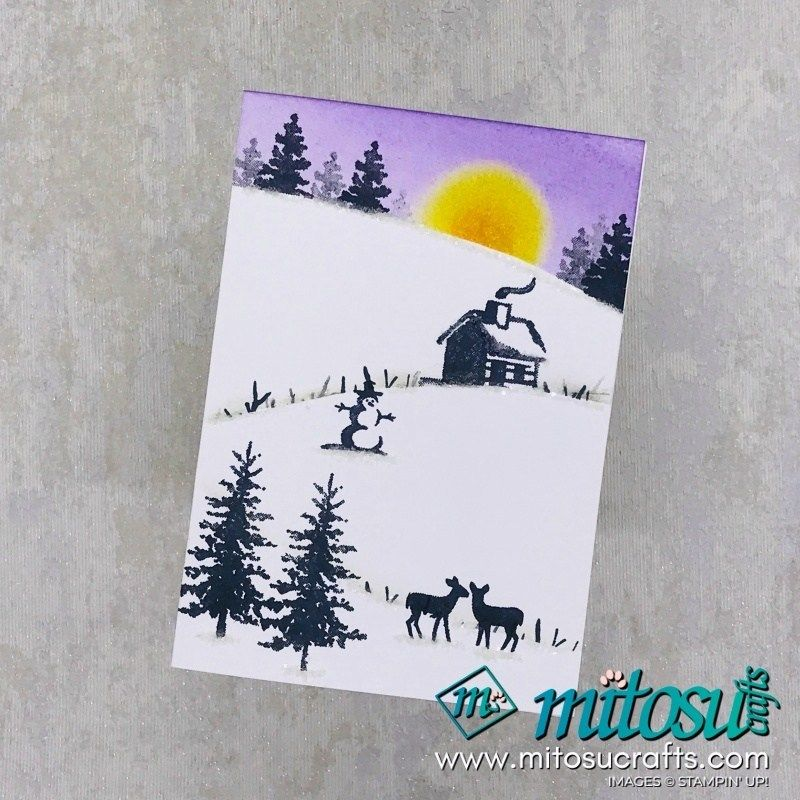 Snow Front Christmas Card - Mitosu Crafts #wintercards