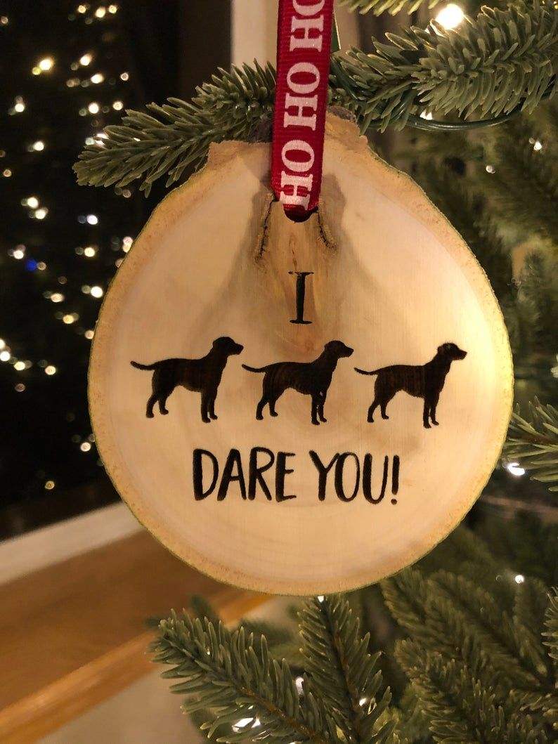 Ornament For Christmas Personalize Ornament DOG TREE ORNAMENT Dog Funny Ornament Brown Dog Ornament Dog Christmas Gift