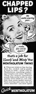 A job for the Mentholatum Twins, superheroes armed only with tubes of supersonic lip balm!