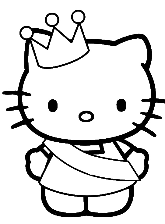 Hello Kitty Was Wearing A Crown Coloring Page Hello Kitty Coloring Pages Kidsdrawing Free Hello Kitty Coloring Kitty Coloring Hello Kitty Colouring Pages