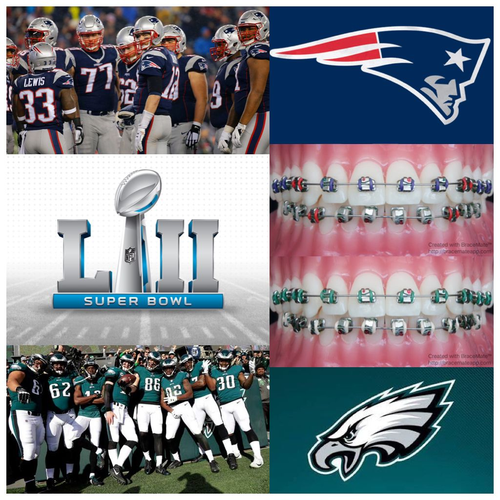 Who Is Going To Win Superbowllii Superbowl Superbowlsunday Newengland Newenglandpatriots P Braces Colors Color Palette Challenge National Football League