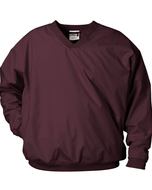 0daf60fb2b0 Badger-Men -039-s-Rib-Knit-V-Neck-Collar-Locker-Loop-Performance-Windshirt-7618