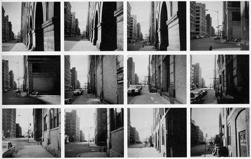Vito Acconci. Blinks, Nov 23,1969; afternoon. Photo-Piece, Greenwich Street, NYC; Kodak Instamatic 124, b/w film