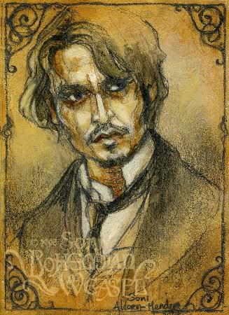 'From Hell' (Johnny Depp) An awesome movie about Jack The Ripper.