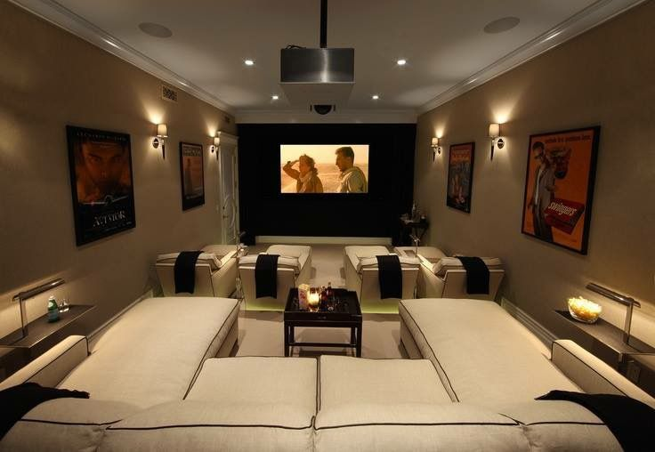 I Like The Chaise Lounges Home Theater Seating Home Theater Design Home Cinema Room