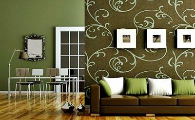 Desain Gambar Wallpaper Dinding Rumah Minimalis Ruang Tamu