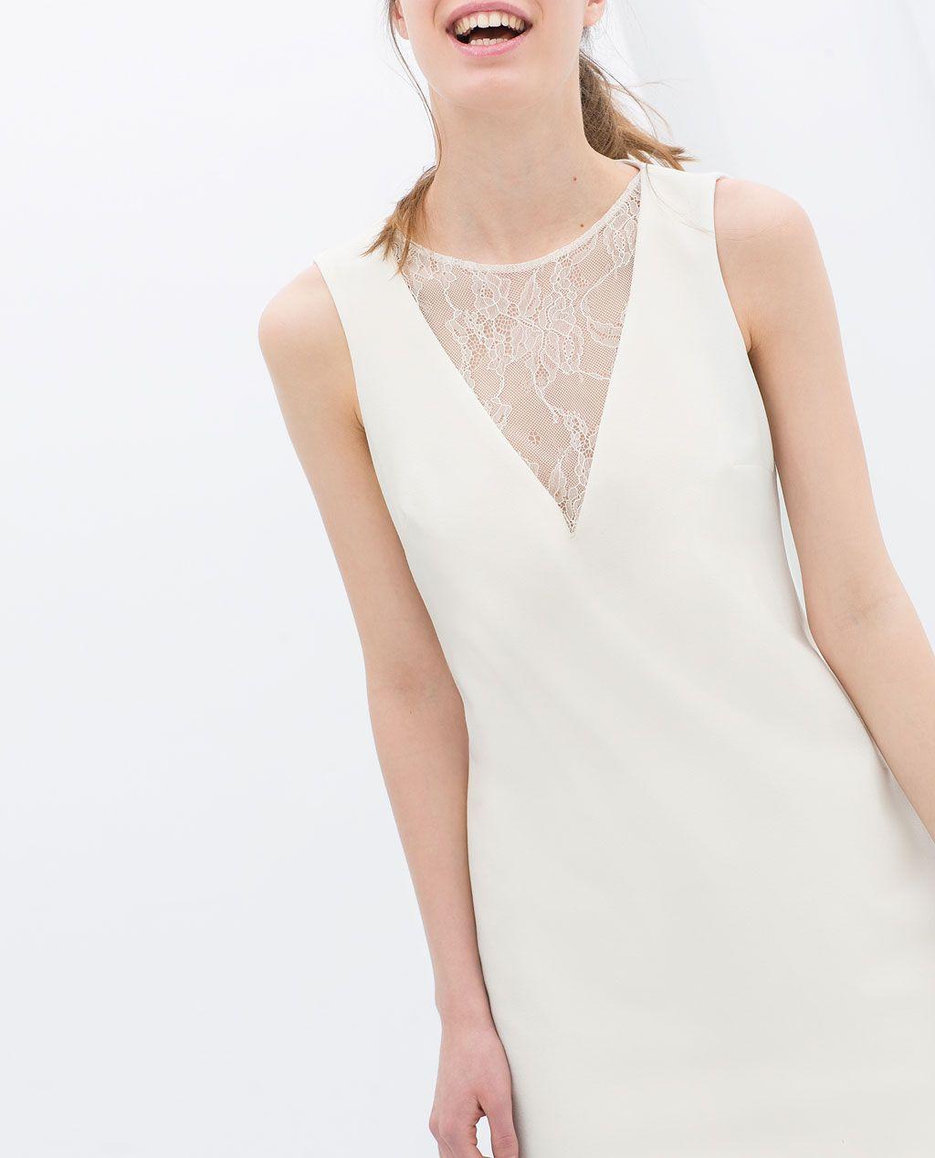 Zara robe blanc casse