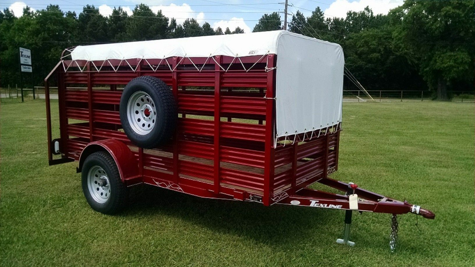 Mini Stock Trailer From Texline Stock Trailer Trailer Horse Trailers