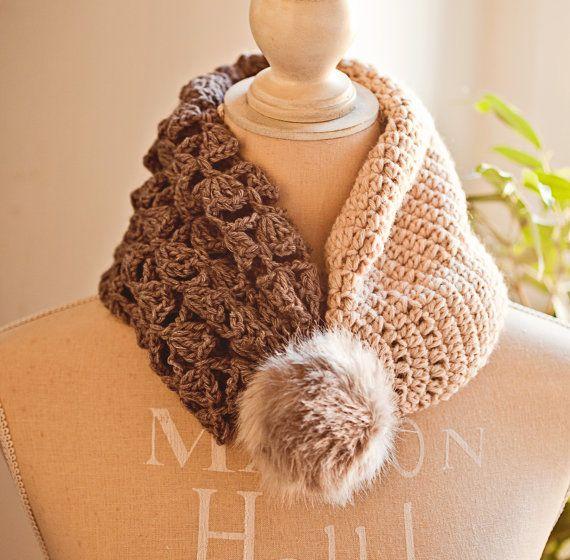 Crochet hat PATTERN Double Layer Hat Cowl por monpetitviolon