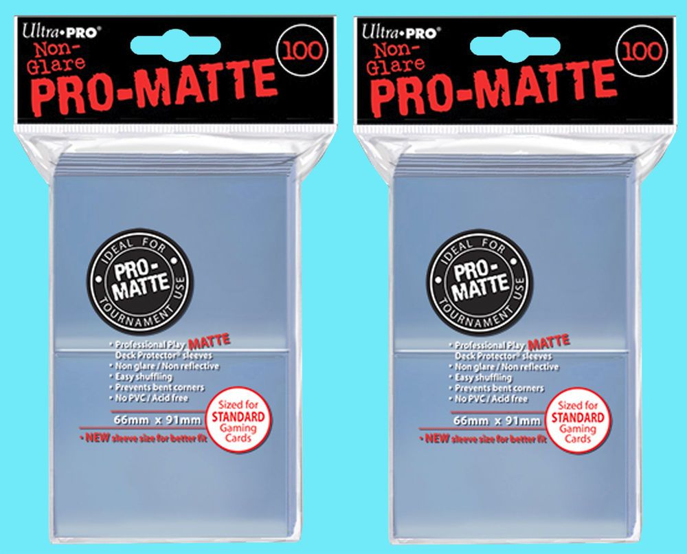 200 ultra pro clear promatte standard size deck protector