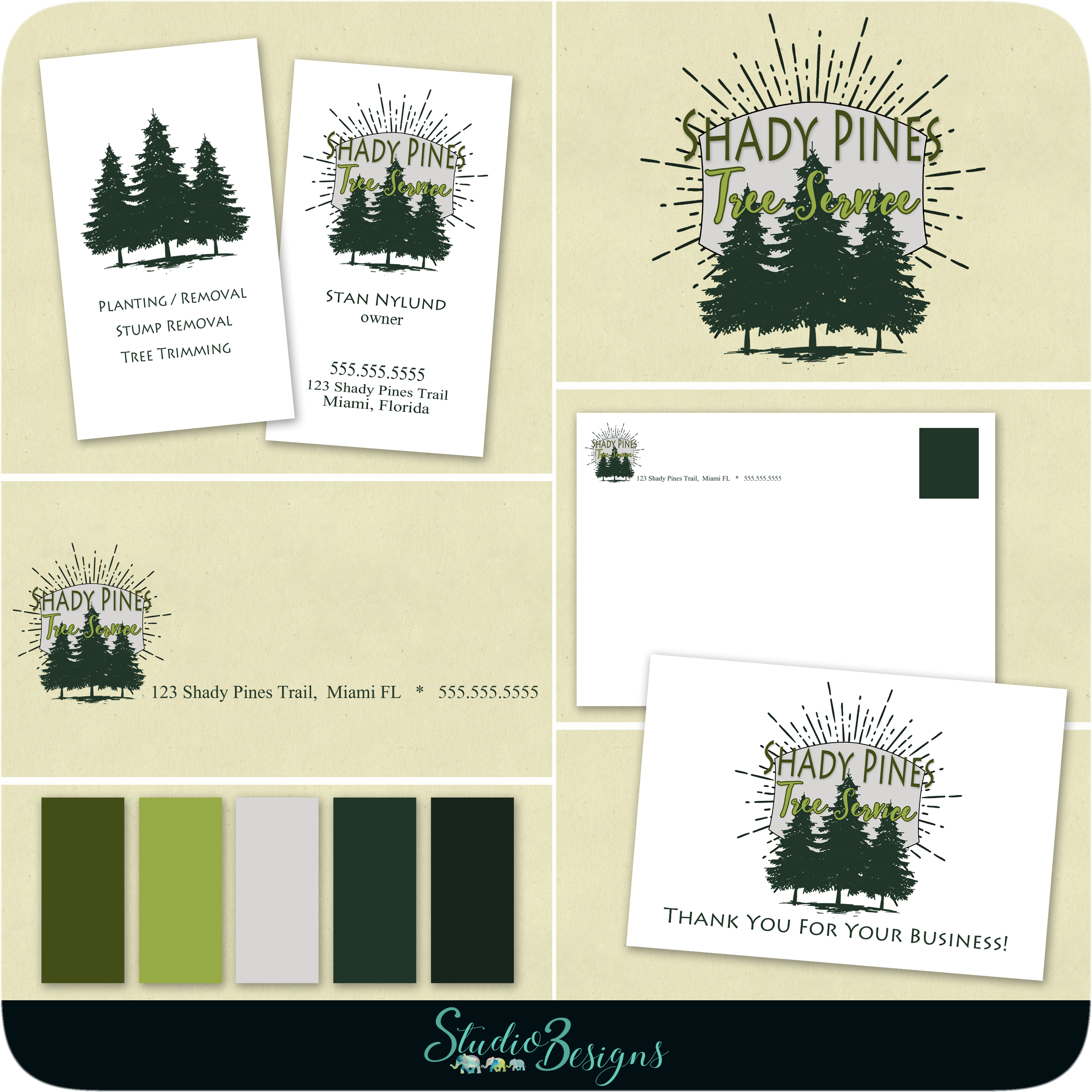 Business Cards Tree Logo Gallery - Card Design And Card Template